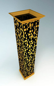 3d column decor mosaic model