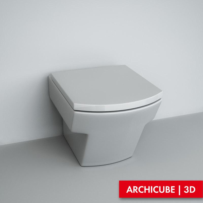 toilet wc 3d model