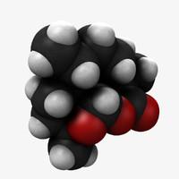 3d model molecular artemisinin