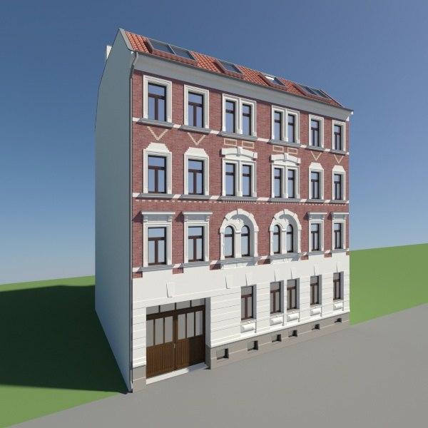 historical facade 3d max
