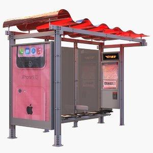 3d bus shelter - san francisco model