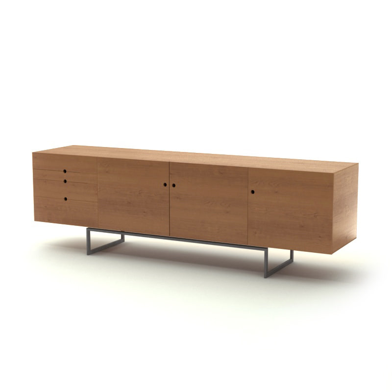 3d obj sideboard wooden for Sideboard 3d