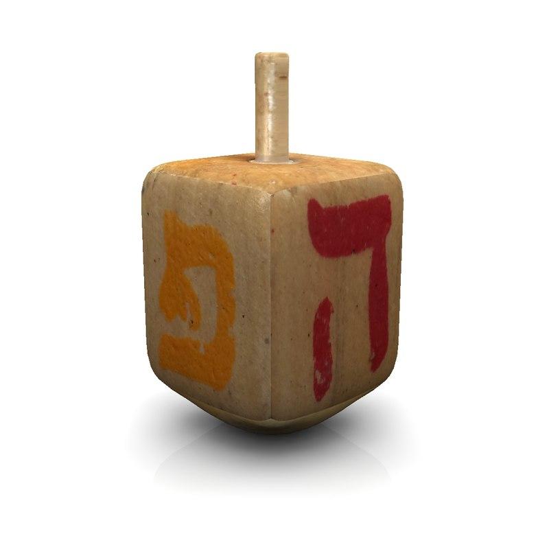 3d dreidel hanukkah