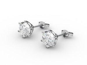 earrings diamonds 3dm