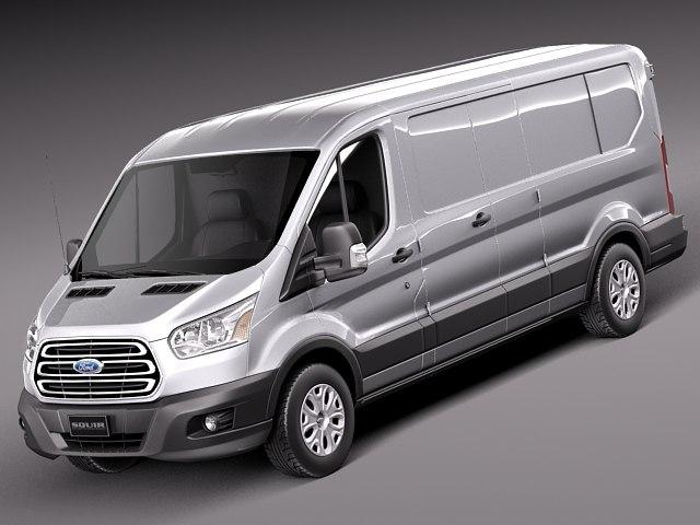 2013 2014 van transit 3d model