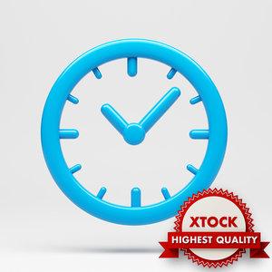 clock icon 3d max