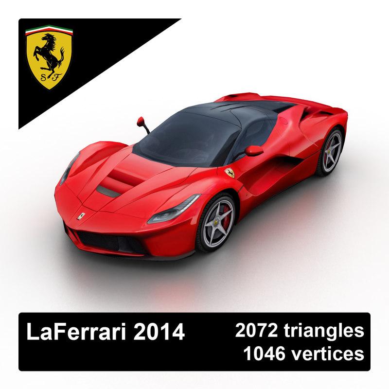 2014 laferrari sports car 3d max