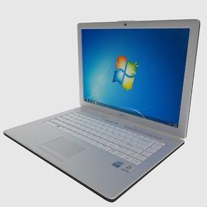 3d model classic dell inspiron laptop