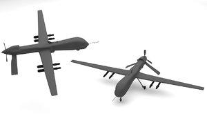 3d predator type drones