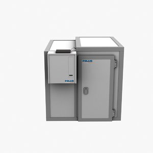 3d refrigerator low-poly model