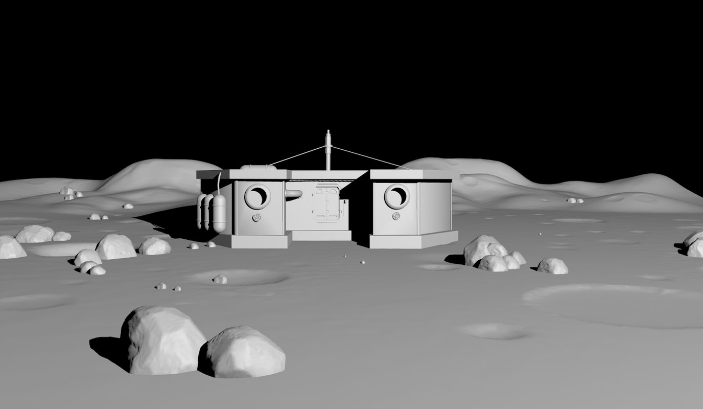 3d moon house