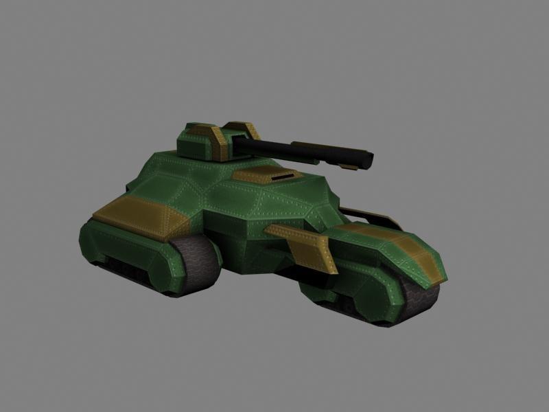 3d scifi unit model