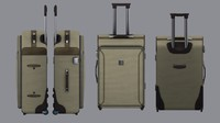 3d wheeled suitcase model
