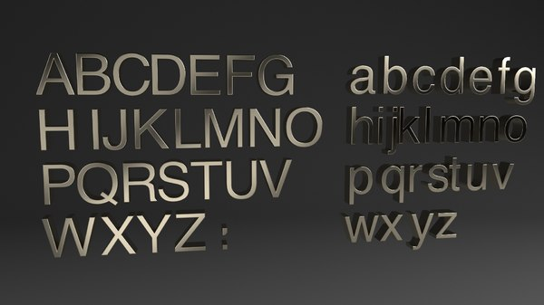 alphabet helvetica obj