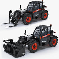 bobcat tl470 telescopic handler 3d model