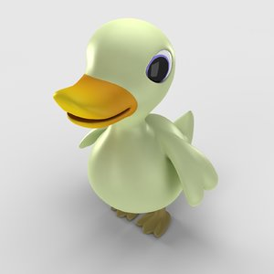 3ds rubber toy duck
