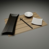 set chinese 3d model