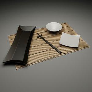 set chinese 3d model