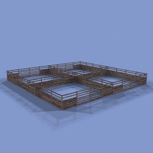 3d corral model