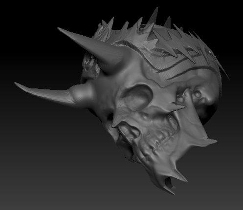 king skull 3d model