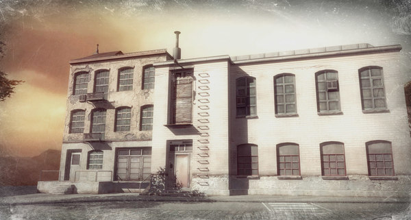 old factory building 3d model