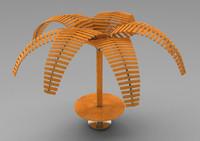 3ds palm pergola