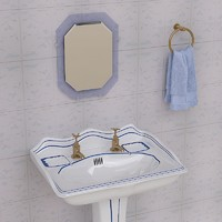 bathroom pedestal props 3d 3ds