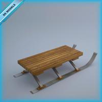 3d model snow sledge