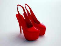 women shoes 3d max