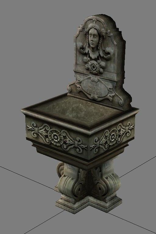 classical fountain 3d x