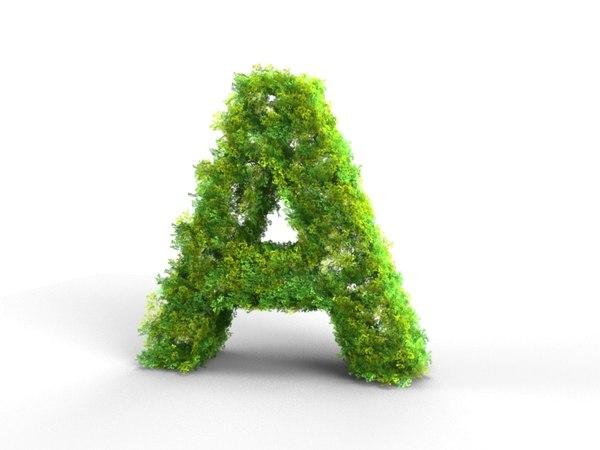 3ds letter alphabet bush