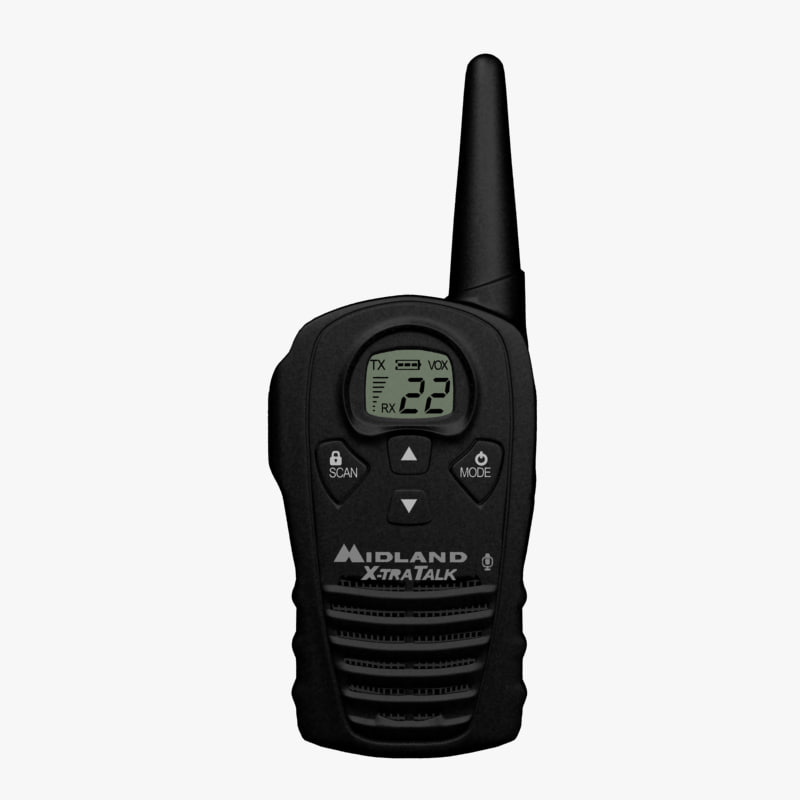3d model handled radio