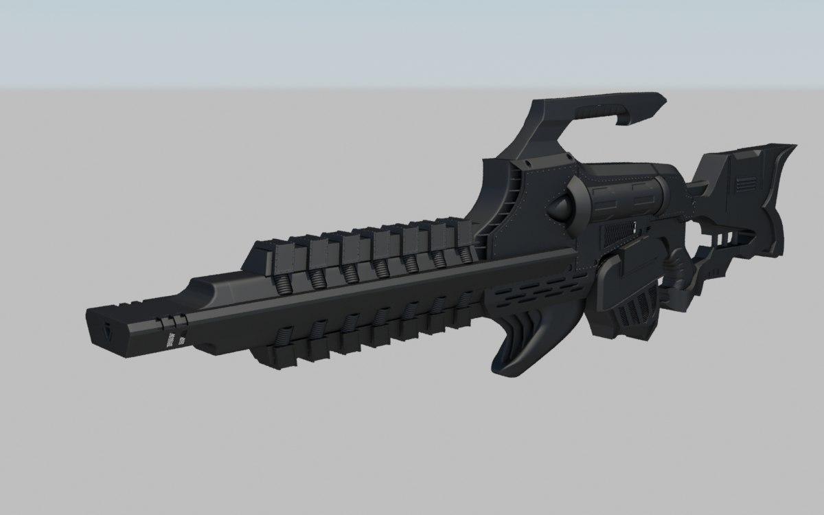 3ds max gauss rifle