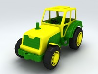 toy tractor 3d 3ds