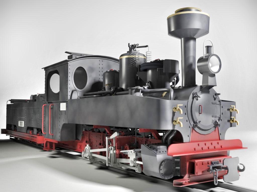 3ds max german steam locomotive