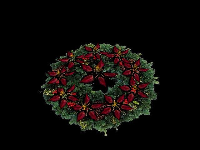 3ds max christmas wreath