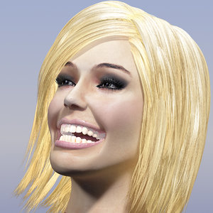 animation head face 3d max