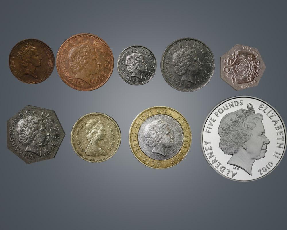 3d model coin uk