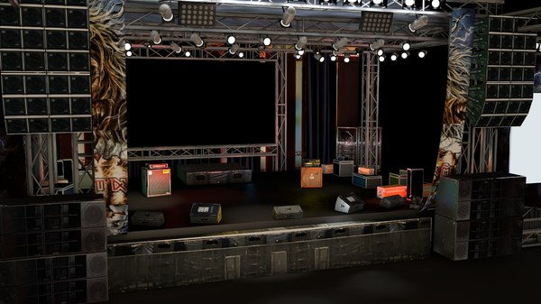cinema4d concert stage