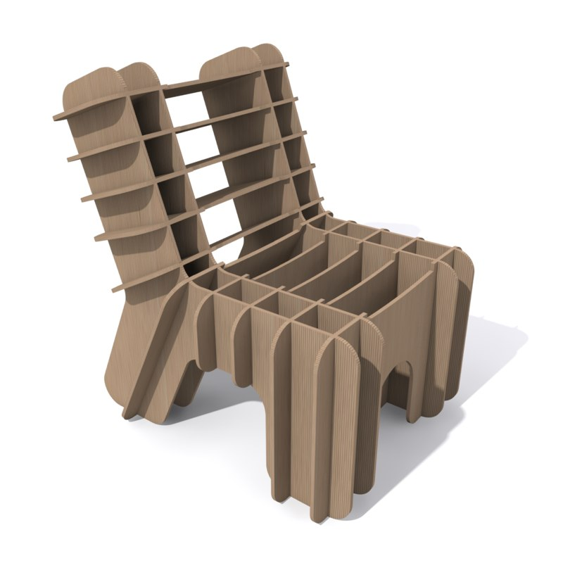 3ds Eco Friendly Cardboard Chair