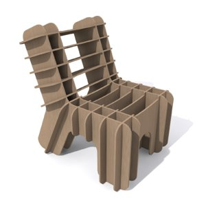 3ds eco-friendly cardboard chair