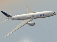 3d model of boeing 777-200 er airliner