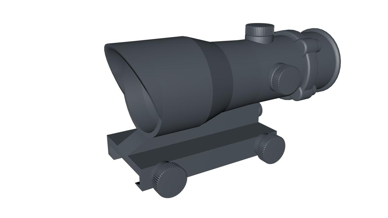 3d acog scope model