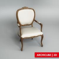 classic chair 3d model