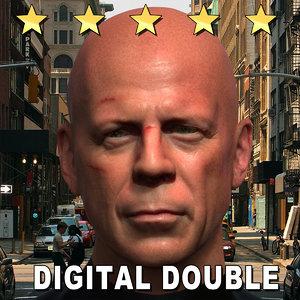 3d john mcclane head