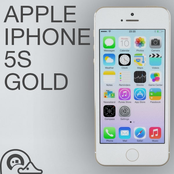 apple iphone 5s gold. 3d apple iphone 5s gold model