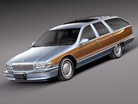 v8 1996 buick roadmaster 3d max