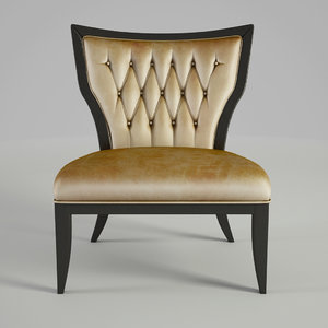 angelo chair cappellini 3d max