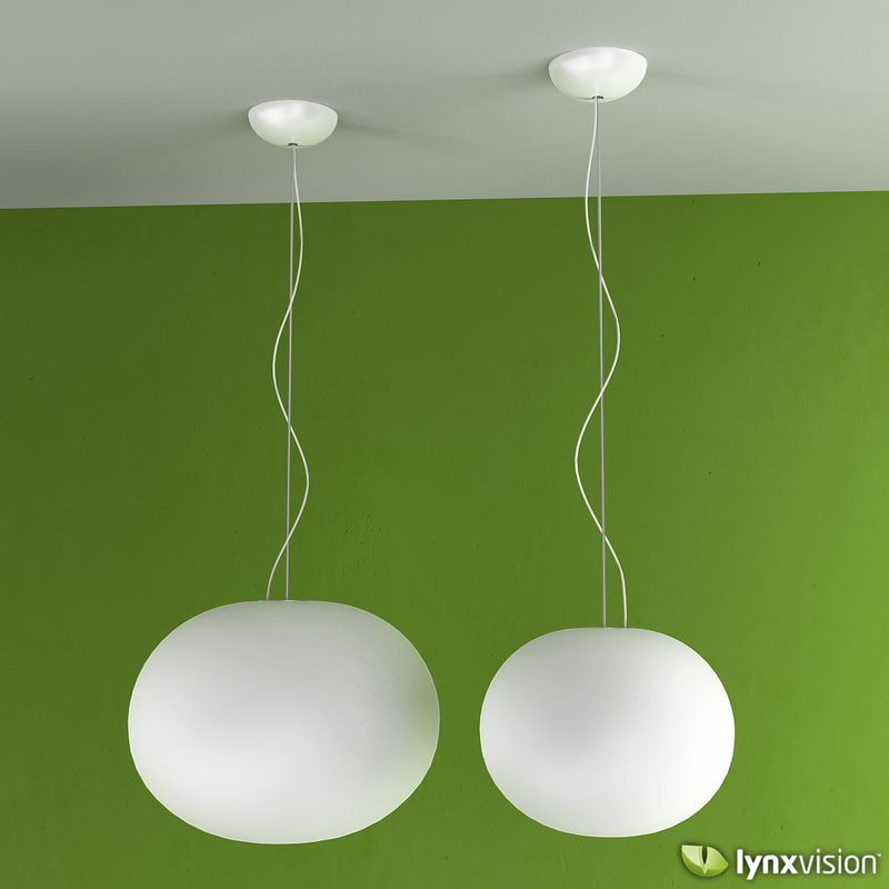 glo-ball pendant lamps 3d model