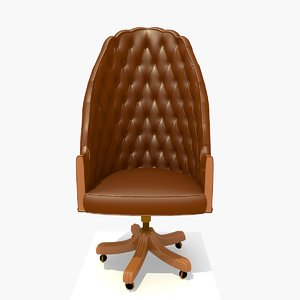 highback directors office chair 3d 3ds